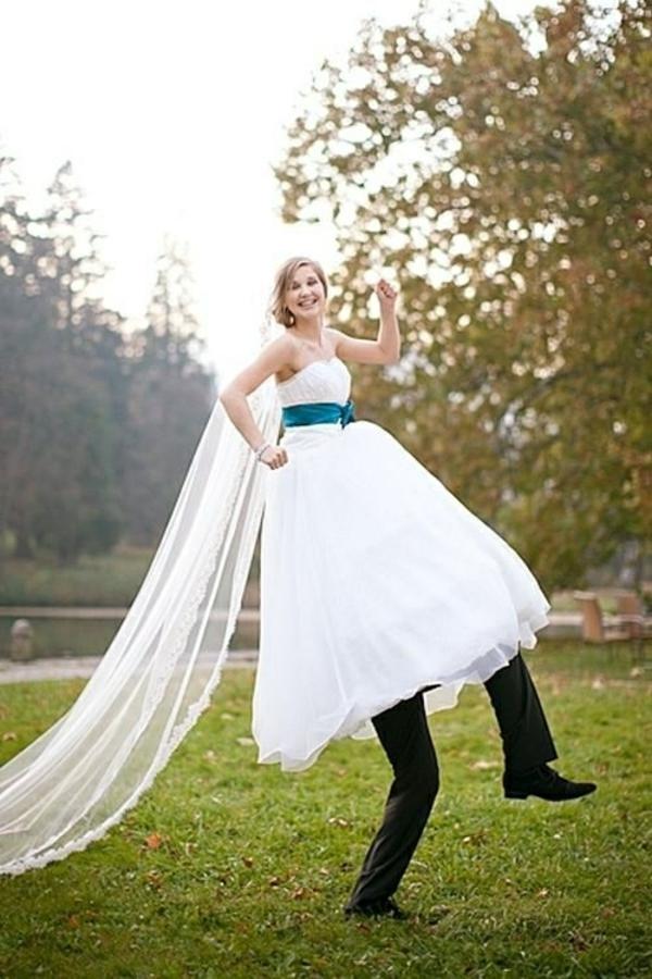 Lustige Hochzeitsfotos Idee trick