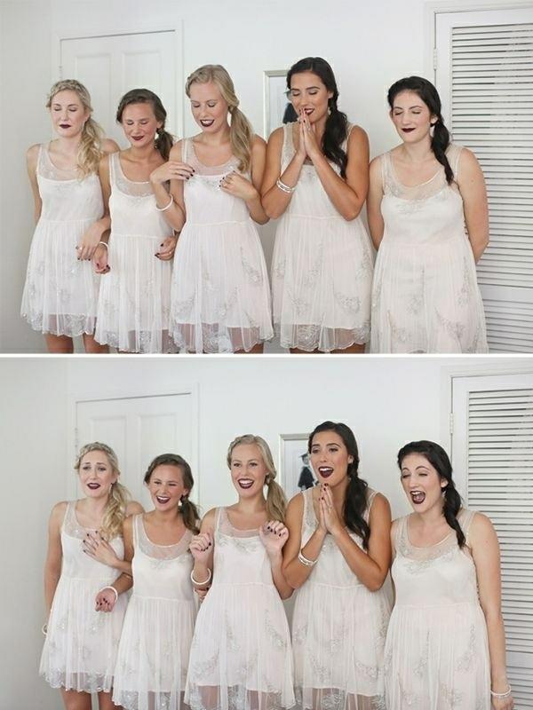 Lustige Hochzeitsfotos Ideen brautjungfer