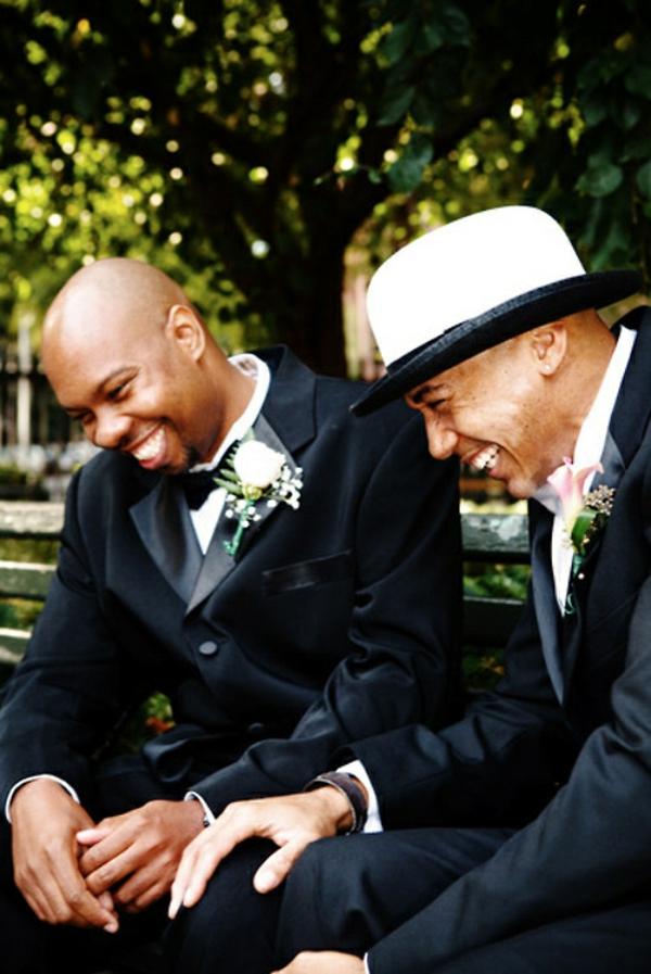 Lustige Hochzeitsfotos fröhlich