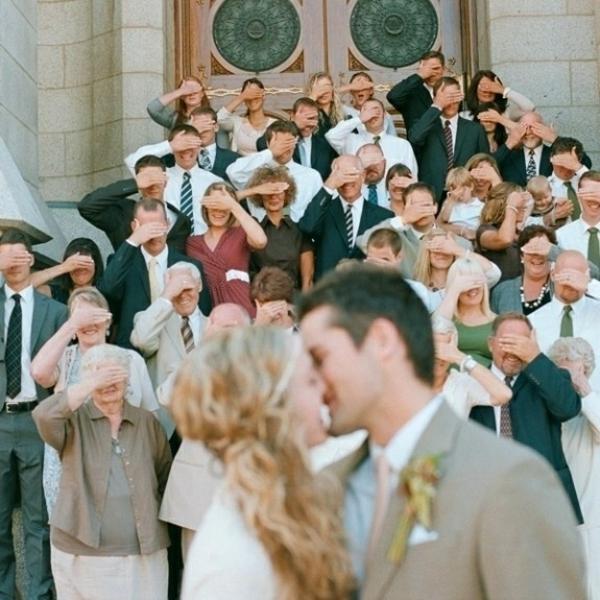 Lustige Hochzeitsfotos gäste ungewöhnlich