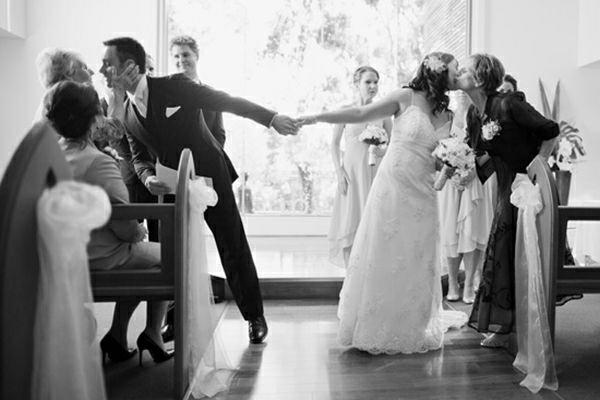 Hochzeitsfotos Ideen schwarz weiß
