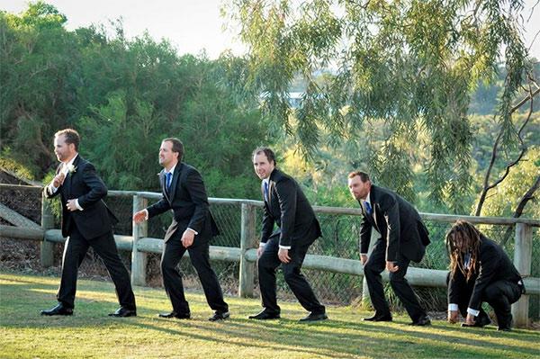Lustige jungen Hochzeitsfotos Ideen verspielt jungen