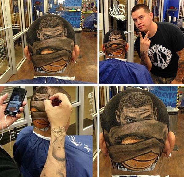 Männer Frisuren Ideen gemälde basketball