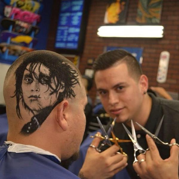Männer Frisur Ideen gemälde kunst fotorealistisch