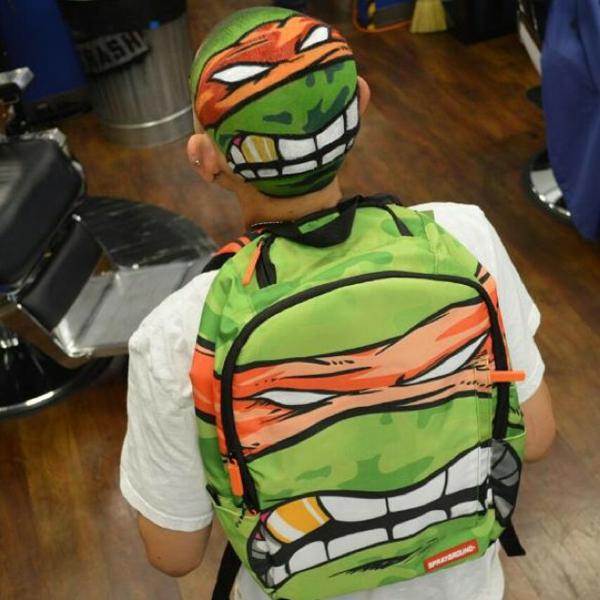 Männer Frisuren Ideen gemälde ninja grün