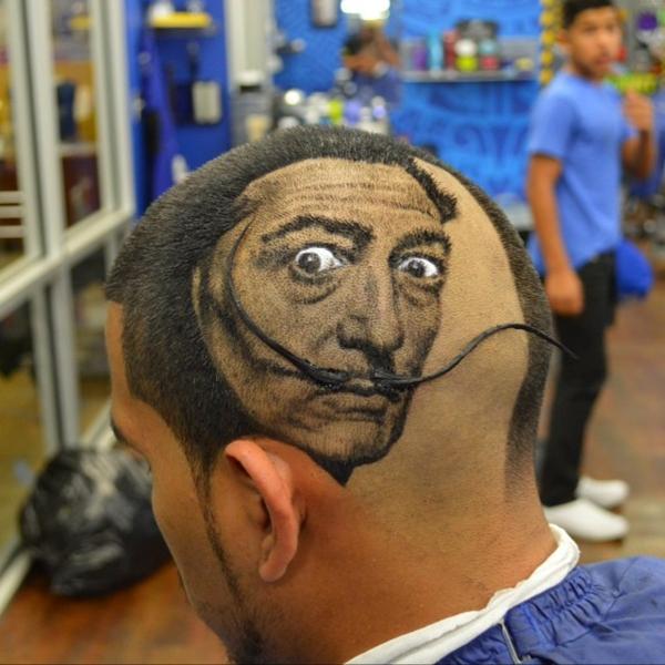 Männer Frisuren Ideen gemälde salvador dali