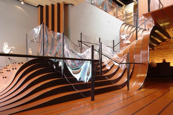 Moderne schwarz formen Innentreppen aus Holz Stahl ideen