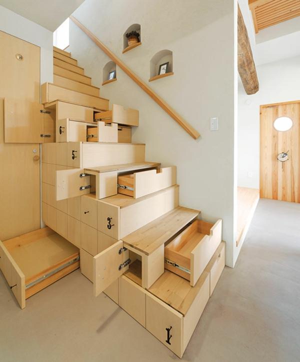 Moderne aus Holz Stahl schubladen