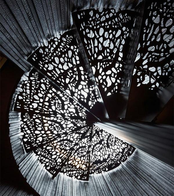 originelle Innentreppen aus Holz Stahl wunderschön