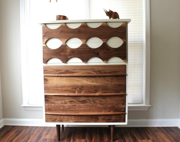 Moderne Wohnzimmerschränke Sideboards aus Birkenholz muster