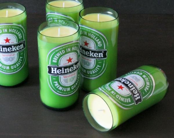 wiederverwendet Glasflaschen bier coke gelb