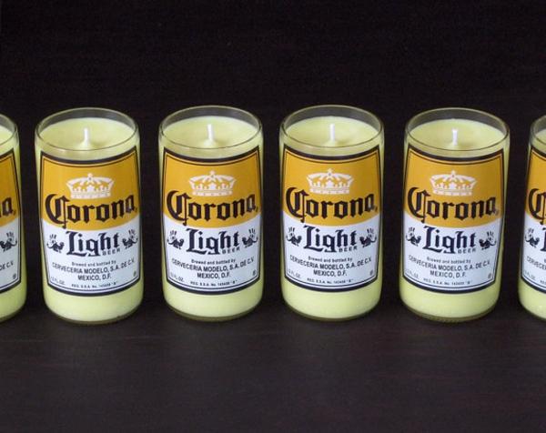 gelbe farbe recycelte Glasflaschen bier coke oridinell