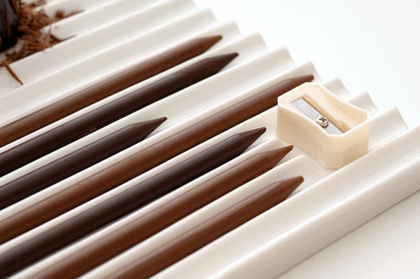 Schokoladen Formen kunstvoll ideen design bleistift