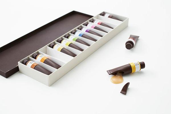 Schokoladen Formen kunstvoll ideen design farben