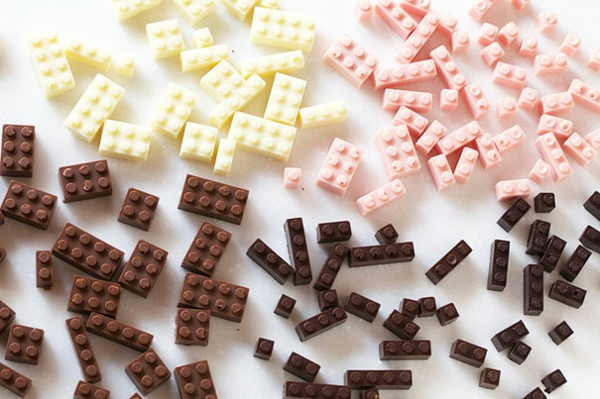 Schokolade Formen kunstvoll ideen design lego stücke