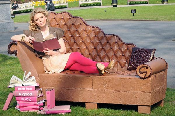 Schokoladen kunstvoll ideen design lesecouch