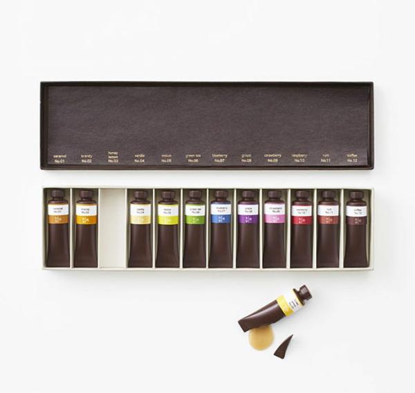 Schokolade Formen kunstvoll ideen design malen