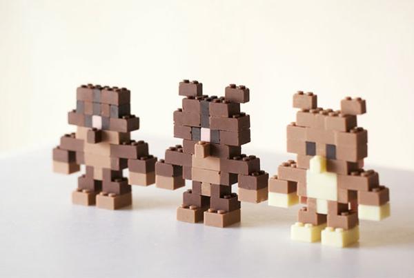 Schokoladen Formen kunstvoll ideen design virtuell bären