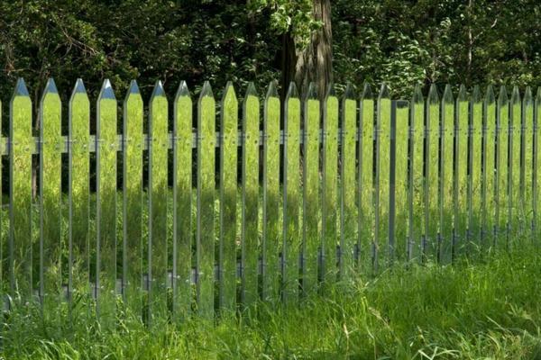 Spiegel Lattenzaun idee projekt amerikanisch umgebung gras