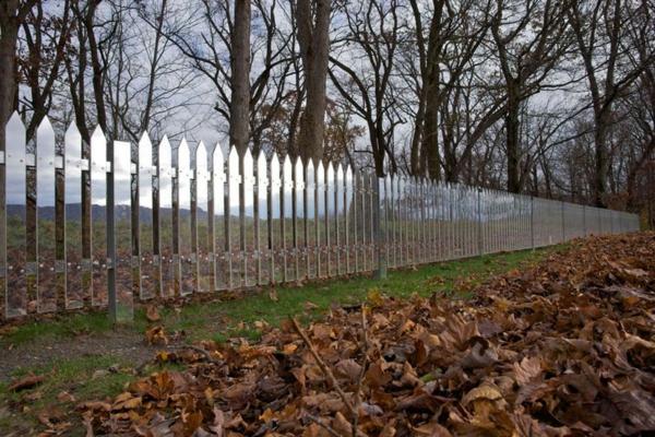 Spiegel Lattenzaun idee projekt amerikanisch umgebung herbst