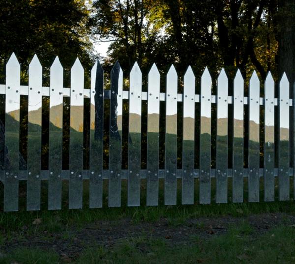 Spiegel Lattenzaun idee projekt amerikanisch umgebung sonne tag