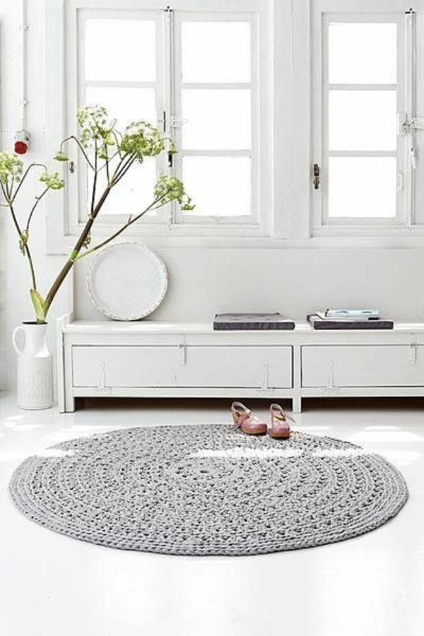 Strickwaren Deko gestrick rund teppich