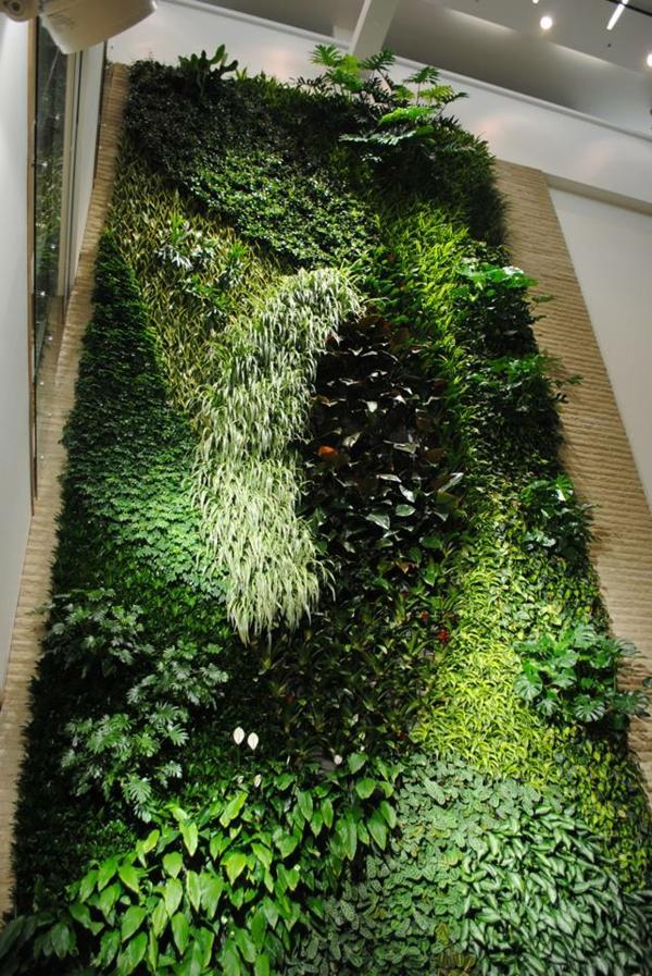wanddeko mit pflanzen livepicture erfrischt das ambiente. Black Bedroom Furniture Sets. Home Design Ideas
