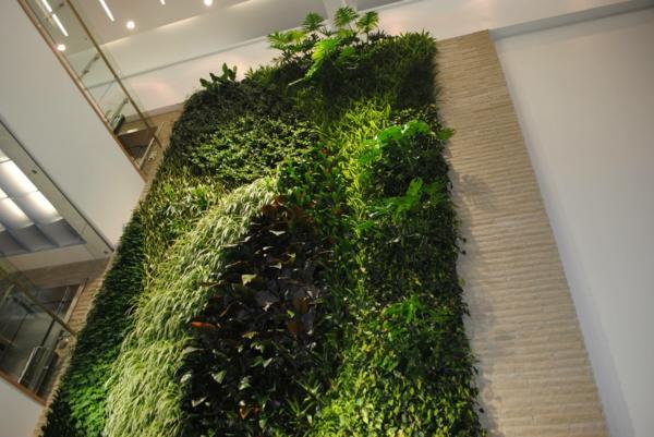 Wanddekoration mit Pflanzen wandgestaltung garten