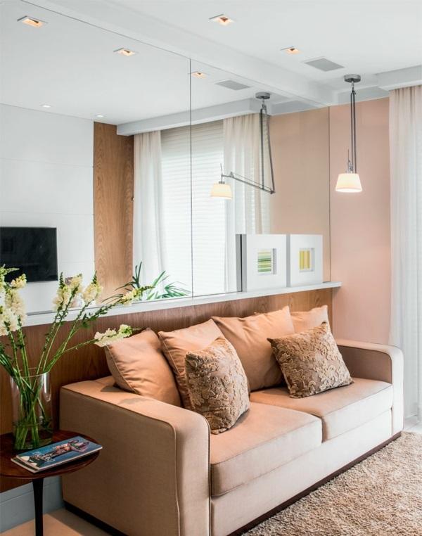 Espelho Em Sala Pequena ~ Wohnzimmergestaltung Ideen – moderne Beispiele und Wohnzimmer Bilder