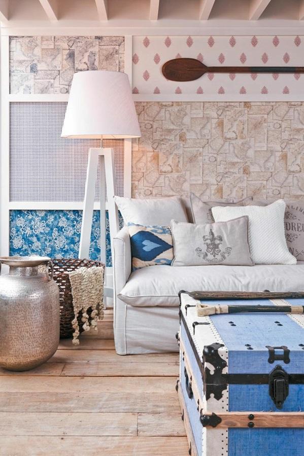 Wohnzimmer einrichten Ideen modern sofa stehlapme