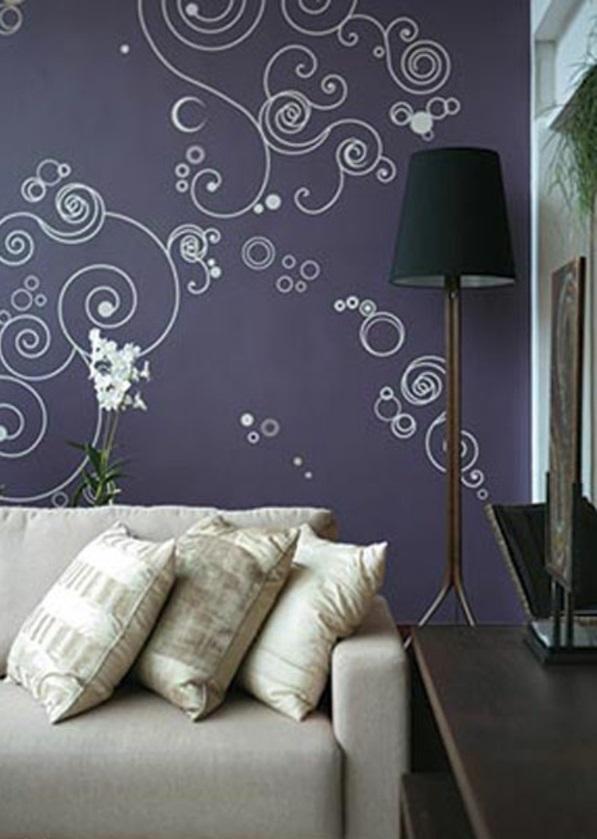 Wohnzimmergestaltung Ideen modern sofa wandgestaltung