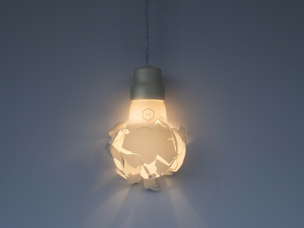 Zerbrochene Designer Lampen glühbirnen 3d abgedruckt