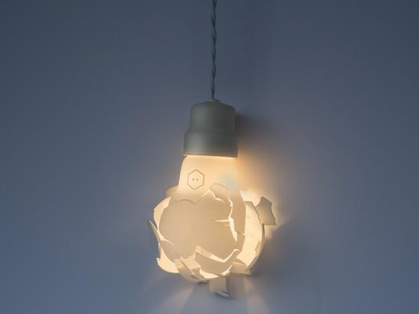 zerbrochene designer lampen in form von bergro en gl hbirnen. Black Bedroom Furniture Sets. Home Design Ideas