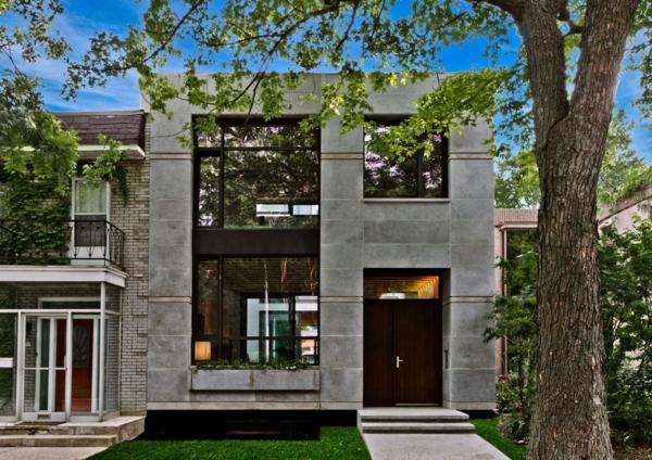 attraktive architektur graue fassade
