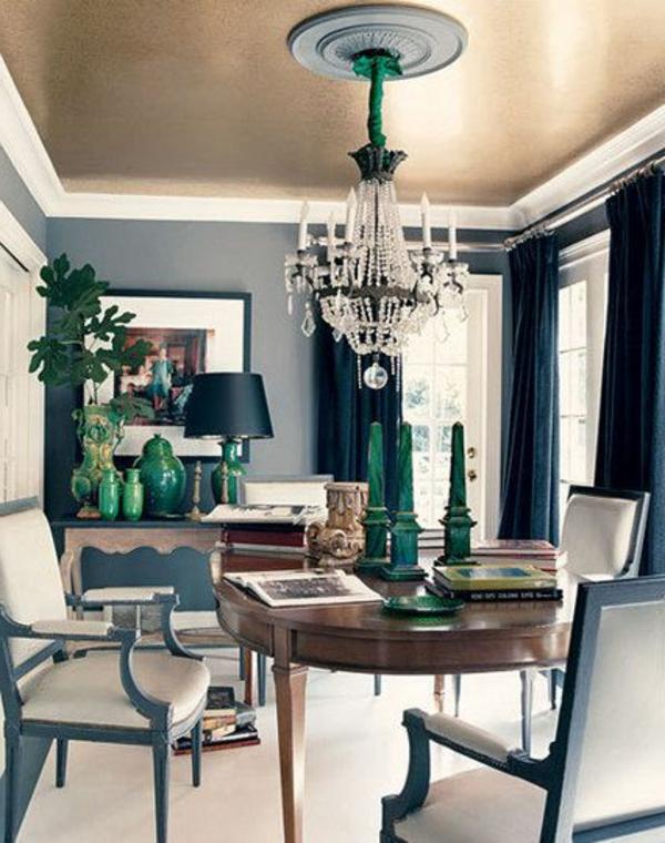 wohnzimmer decken ideen:Schöne wohnzimmer decken : attraktive decken im zimmer metallic