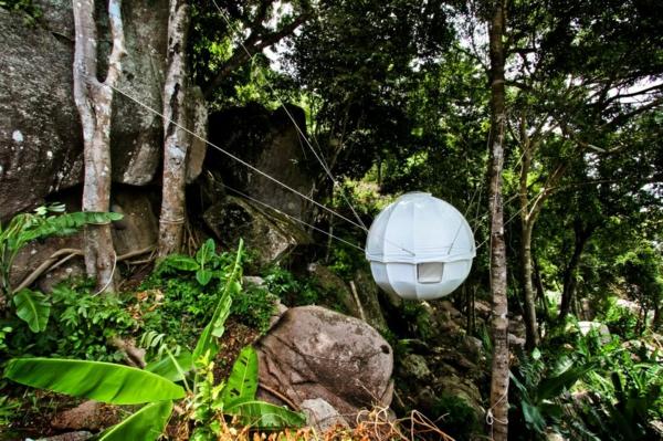 attraktives kugelförmiges camping zelt