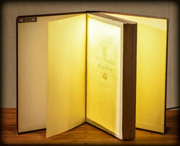 bücher lampen ideen diy vorhandene materialien seiten