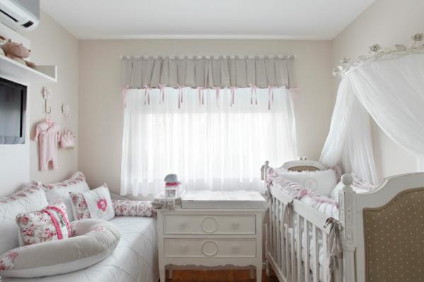 babyzimmer grau möbel babymöbel gardinen