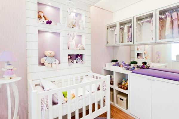 babyzimmer farben einrichten möbel babymöbel lila