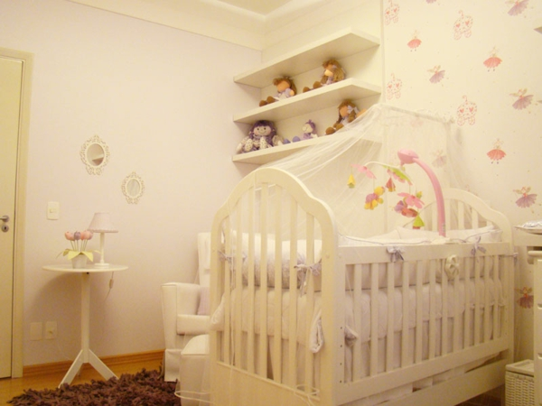 babyzimmer einrichten möbel babymöbel wanddeko tupfen