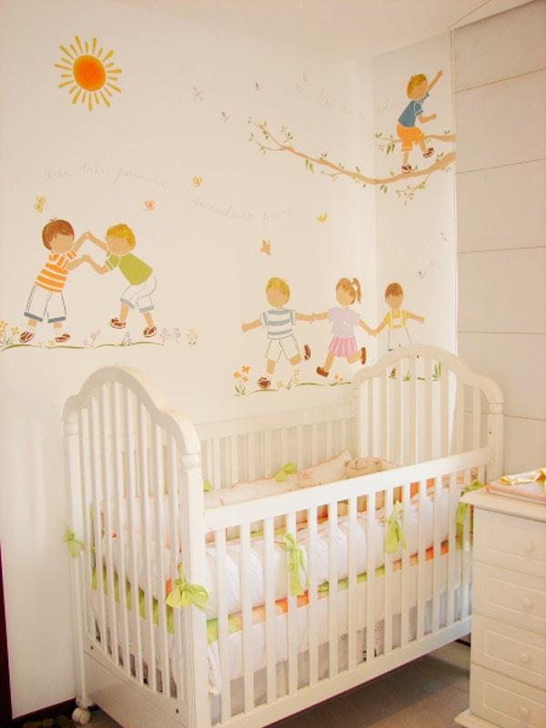 kinder einrichten möbel babymöbel wandsticker
