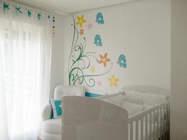babyzimmer komplett gestalte wandtattoo