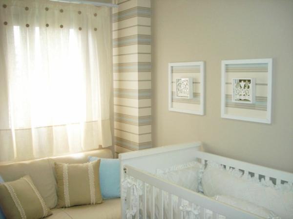 babyzimmer streifen rahmen komplett gestalten gardinen deko