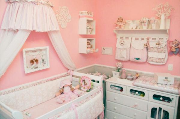 babyzimmer komplett gestalten rosa mädchen