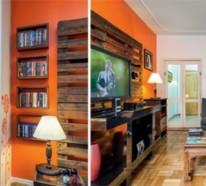 Bauen mit paletten die originellen ideen kennen keine - Wohnwand aus paletten ...