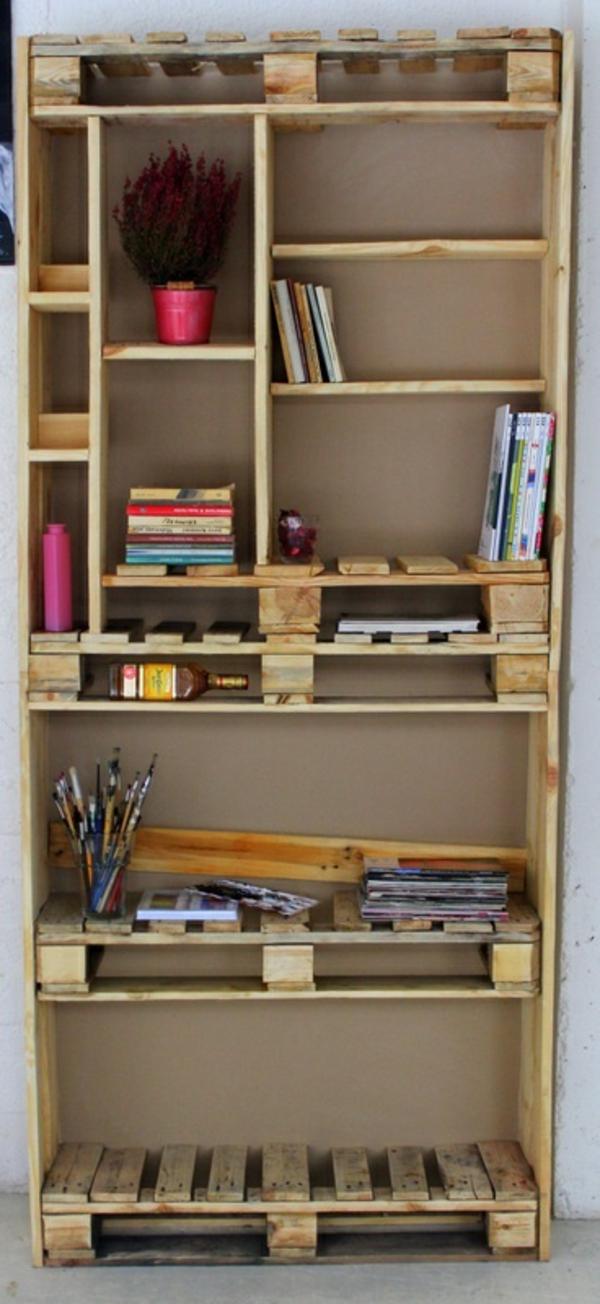 Uberlegen Bauen Mit Paletten Bücherregal Holz Selber Bauen