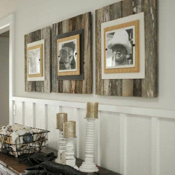 Bauen Mit Paletten Bilderrahmen Holz Diy Ideen Idea