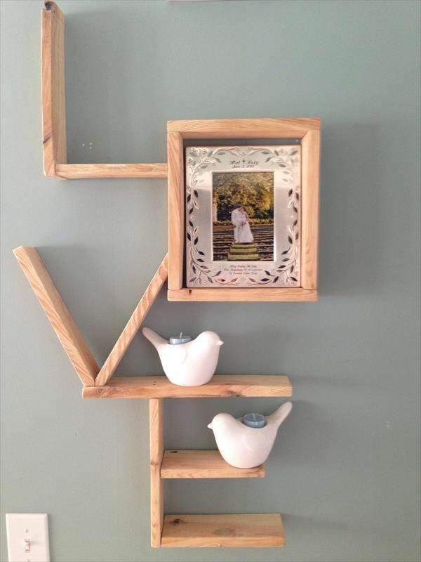bauen mit paletten diy holzregal love kreative bastelideen