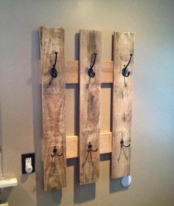 bauen mit paletten kleiderhaken flur einrichten