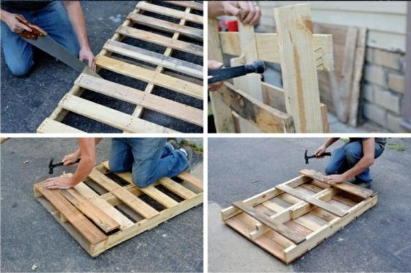 bauen mit paletten materialien werkzeuge arbeitsprozess